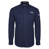 Navy Twill Button Down Long Sleeve-H120 Craft
