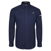 Navy Twill Button Down Long Sleeve-H145 Craft