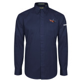 Navy Twill Button Down Long Sleeve-USCG MH65 Craft
