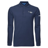 Navy Long Sleeve Polo-H120 Craft
