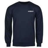 Navy Fleece Crew-Airbus