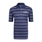 Adidas Climalite Navy Textured Stripe Polo-Airbus Helicopters