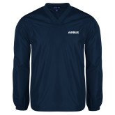 V Neck Navy Raglan Windshirt-Airbus