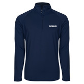 Sport Wick Stretch Navy 1/2 Zip Pullover-Airbus