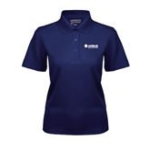 Ladies Navy Dry Mesh Polo-Airbus Helicopters
