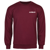 Maroon Fleece Crew-Airbus