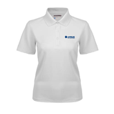 Ladies White Dry Mesh Polo-Airbus Helicopters