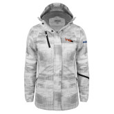 Ladies White Brushstroke Print Insulated Jacket-USCG MH65 Craft
