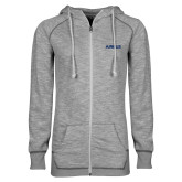ENZA Ladies Grey/Black Marled Full Zip Hoodie-Airbus
