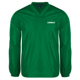 Kelly Green V Neck Windshirt-Airbus