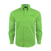 Red House Green Herringbone Non Iron Long Sleeve Shirt-Airbus Helicopters