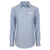 Ladies Light Blue Oxford Shirt-Airbus