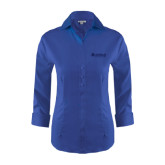 Ladies Red House French Blue 3/4 Sleeve Shirt-Airbus Helicopters