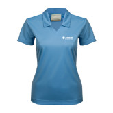 Ladies Nike Golf Dri Fit Light Blue Micro Pique Polo-Airbus Helicopters