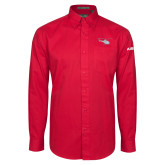 Red Twill Button Down Long Sleeve-H125 Craft