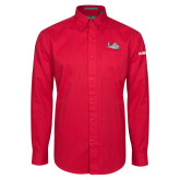 Red Twill Button Down Long Sleeve-H155 Craft
