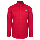 Red Twill Button Down Long Sleeve-H120 Craft