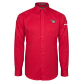 Red Twill Button Down Long Sleeve-H130 Craft