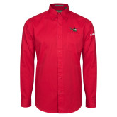 Red Twill Button Down Long Sleeve-H145 Craft