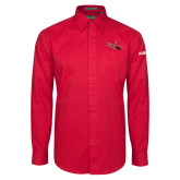 Red Twill Button Down Long Sleeve-USCG MH65 Craft