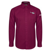 Maroon Twill Button Down Long Sleeve-H120 Craft