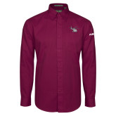 Maroon Twill Button Down Long Sleeve-H130 Craft