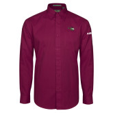Maroon Twill Button Down Long Sleeve-H145 Craft