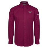 Maroon Twill Button Down Long Sleeve-H175 Craft