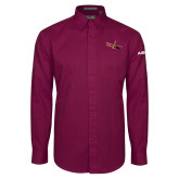 Maroon Twill Button Down Long Sleeve-USCG MH65 Craft
