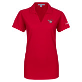 Ladies Red Dry Zone Grid Polo-H130 Craft