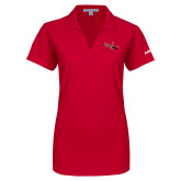 Ladies Red Dry Zone Grid Polo-USCG MH65 Craft