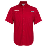 Columbia Bonehead Red Short Sleeve Shirt-Airbus