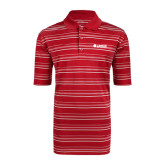 Adidas Climalite Red Textured Stripe Polo-Airbus Helicopters