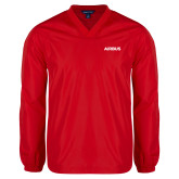 V Neck Red Raglan Windshirt-Airbus