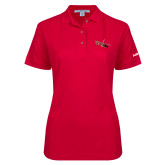 Ladies Easycare Red Pique Polo-USCG MH65 Craft
