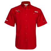 Columbia Tamiami Performance Red Short Sleeve Shirt-USCG MH65 Craft