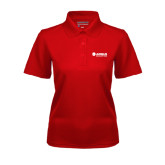 Ladies Red Dry Mesh Polo-Airbus Helicopters