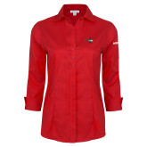 Ladies Red House Red 3/4 Sleeve Shirt-H145 Craft