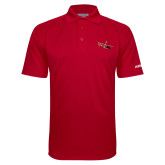 Red Textured Saddle Shoulder Polo-USCG MH65 Craft