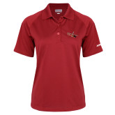 Ladies Red Textured Saddle Shoulder Polo-USCG MH65 Craft