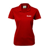 Ladies Nike Golf Dri Fit Red Micro Pique Polo-Airbus Helicopters