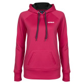 Ladies Pink Raspberry Tech Fleece Hoodie-Airbus