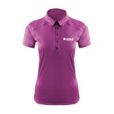 Ladies Ogio Deep Purple Pleated Back Polo-Airbus Helicopters