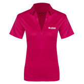 Ladies Pink Raspberry Silk Touch Performance Polo-Airbus Helicopters