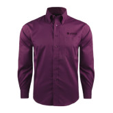 Red House Deep Purple Herringbone Non Iron Long Sleeve Shirt-Airbus Helicopters