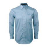 Light Blue Twill Button Down Long Sleeve-Airbus Helicopters
