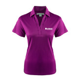Ladies Purple Performance Fine Jacquard Polo-Airbus Helicopters