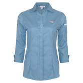 Ladies Red House Light Blue 3/4 Sleeve Shirt-H125 Craft