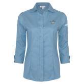 Ladies Red House Light Blue 3/4 Sleeve Shirt-H130 Craft