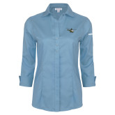 Ladies Red House Light Blue 3/4 Sleeve Shirt-H145 Craft